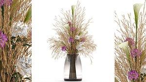Flower bouquet in a Vase 117 3D model
