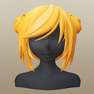 hair character girl model