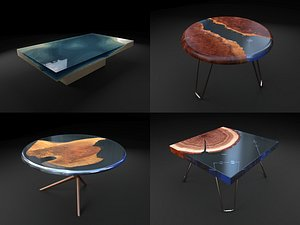 3D resin table coffee model