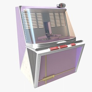 3D jukebox retro authentic
