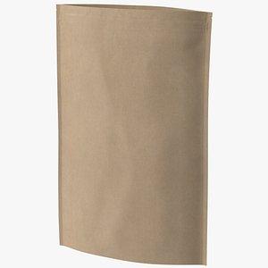 zipper kraft paper bag 3D model