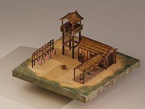 3D model Archer Barracks Level 1