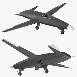 drone uav military aircraft 3D model