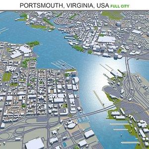 Portsmouth Virginia USA 3D
