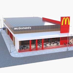 3D mcdonalds restaurant building model