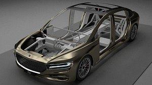 3D R6 Big Sedan concept