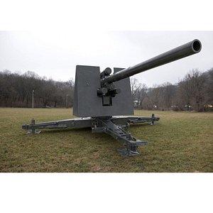 3D German Flak 36 88 cannon