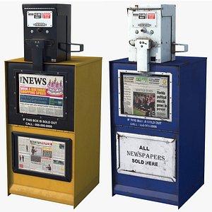 3D Newspaper Boxes HD model