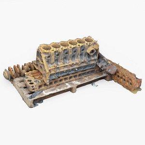 Car Engine Block 3D