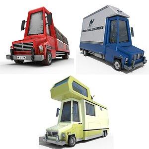 3D caravan truck box model