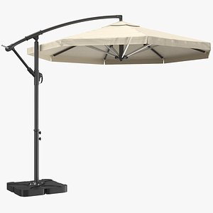 patio umbrella offset 3D model
