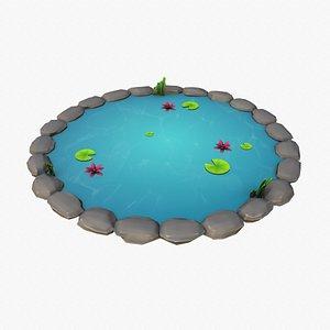 Cartoon Pond 3D