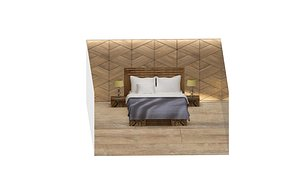 3D model Photorealisti Bed