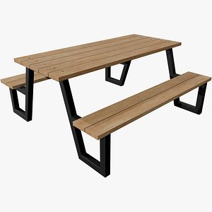 3D Picnic Table v3 with Pbr 4K 8K