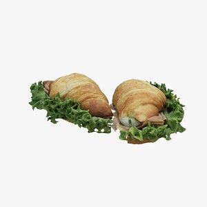 Croissant filled 3D model