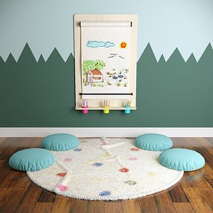 3D Kids Playing Room