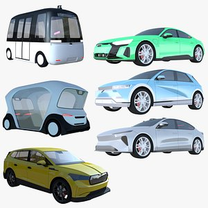 3D model Electric cars big collection