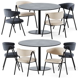 Dining T-Table by Tribu 3D model