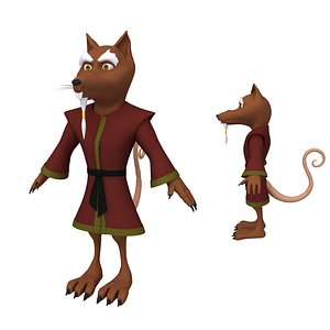 3D Rat Ninja Cartoon model