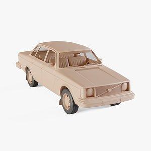 3D model 1975 Volvo 244 DL