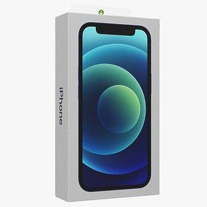 12 mini box blue 3D