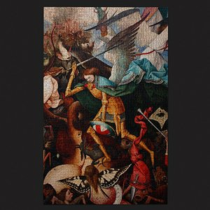 Fall of the Rebel Angels Version 3 Tapestry 3D