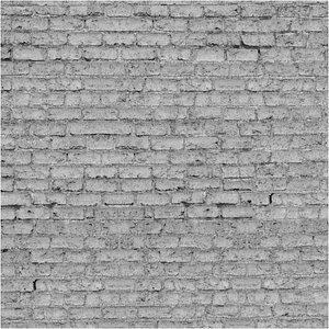 White BrickWall 3D model