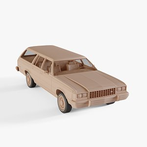 1986 Ford Country-Squire 3D model