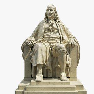 3D franklin memorial statue model