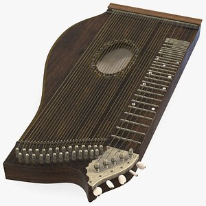 3D concert zither model