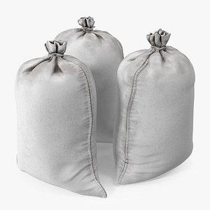 3D model White Polypropylene Sandbags Dirty