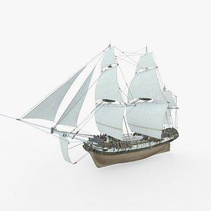 3D frigate undaunted hms