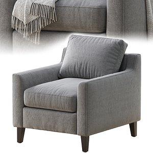 3D beverly upholstered model