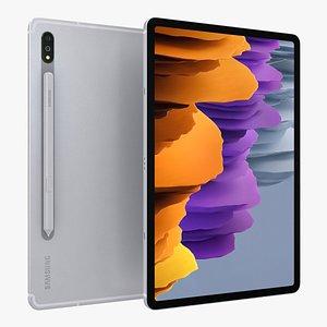 Samsung Galaxy Tab S7 Mystic Silver 3D model
