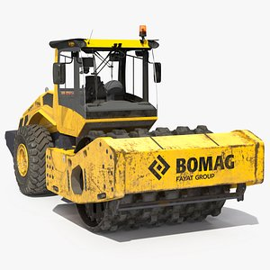 3D model BOMAG BW226 PDH5 Single Drum Compactor Dirty