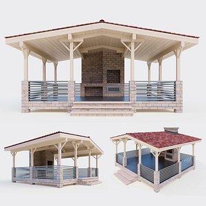 3D large gazebo model