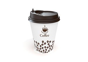 paper coffee cup 12oz 3D