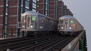 r62 kawasaki nyc subway 3D model
