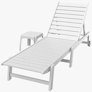 3D sun lounge lounger model