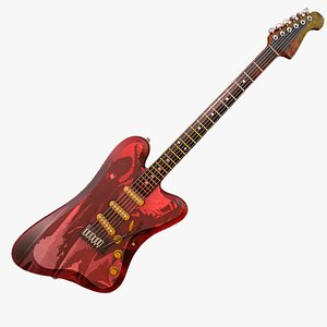 guitar electric 3D