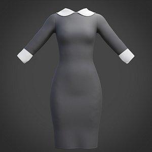 3D model female dress