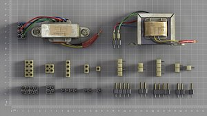 component electrical 3D