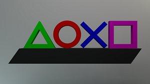 3D Playstation Icon Light