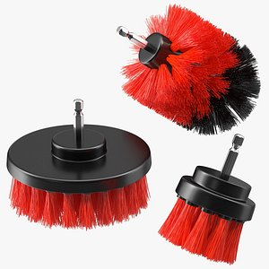 piece drill brush set 3D model