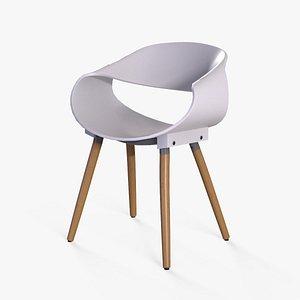 Matteo Cafe Chair white 3D