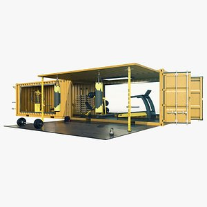 Mobile Gym Container model