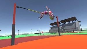 sport athletic 3D model