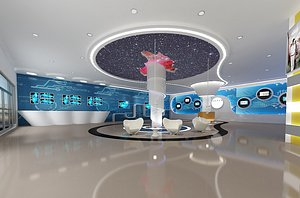 3D Exhibition Hall Exhibition hall Sense of technology command Center Space tunnel wormhole through