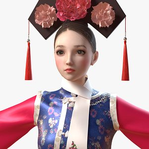 girl princess qing model