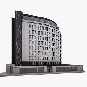 european office building 3D model